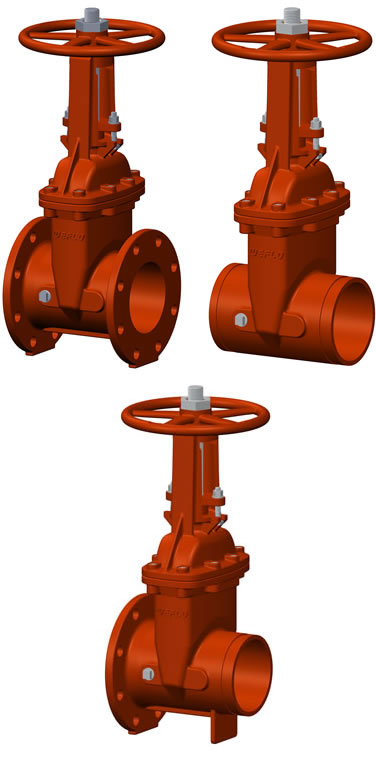 UL / FM OS&Y Resilient Seated Gate Valves