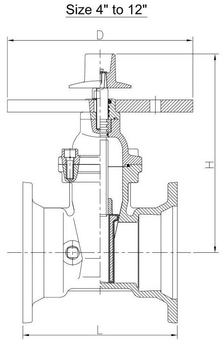 ul fm post indicator gate valve flange x flange