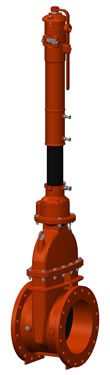 UL / FM large Diameter Post Indicator Valve Assembly